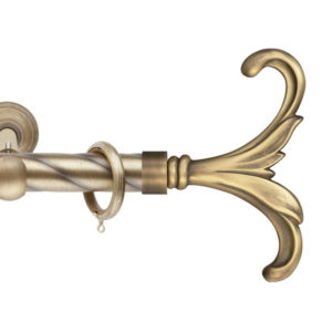 Металлический карниз Клеопатра цвет бронза фото