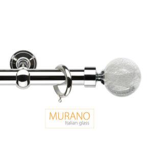 Металлический карниз Шар цвет бело-серебряный фото