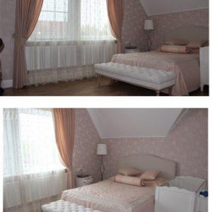 Шторы в спальную комнату на заказ фото-184