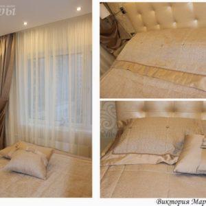 Шторы в спальную комнату на заказ фото-187
