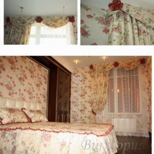 Шторы в спальную комнату на заказ фото-230